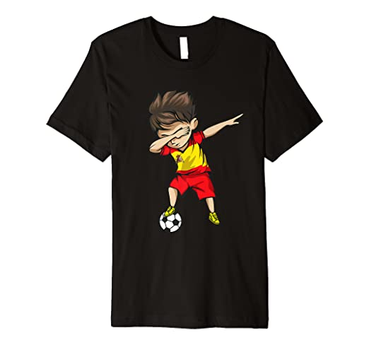 32c23cbbecf Image Unavailable. Image not available for. Color  Dabbing Soccer Boy Spain  Jersey Shirt - Spanish Football