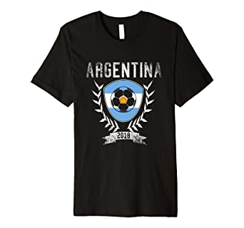 914e062c70c Image Unavailable. Image not available for. Color  Argentinian Football  2018 T-Shirt - Argentina Soccer Jersey