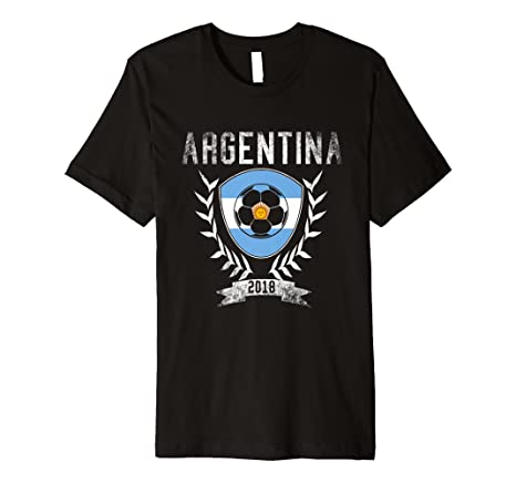 Amazon.com: Argentinian Football 2018 T-Shirt - Argentina Soccer Jersey: Clothing