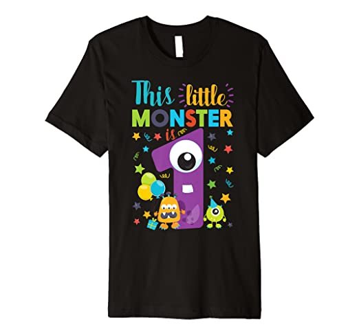 Image Unavailable Not Available For Color This Little Monster Is 1 Year Old Birthday Halloween Shirt