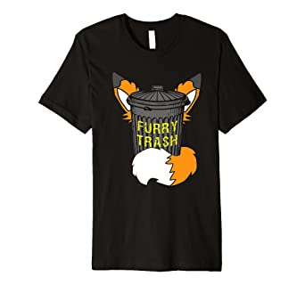 281a5e2be Image Unavailable. Image not available for. Color: Fox Furry Trash Shirt ...