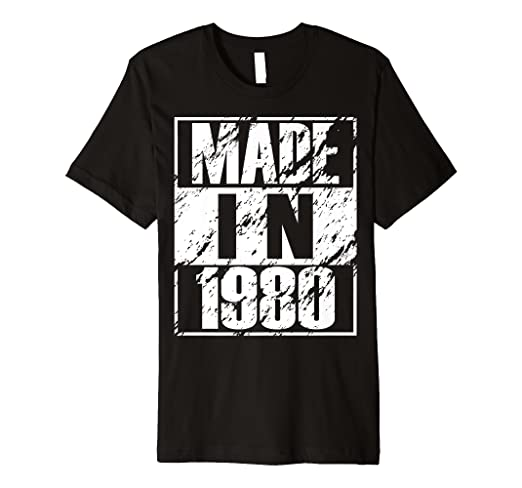 d0ad4b8a Image Unavailable. Image not available for. Color: Vintage 39th Birthday  Gift Funny Made In 1980 T-shirt