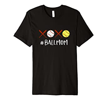20898a6c0 Image Unavailable. Image not available for. Color: Ball Mom Shirt Softball  Mom Tee ...