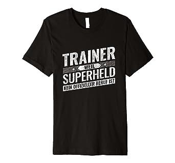 Top Trainer Geschenk Held Training Fussball Trainer T Shirt