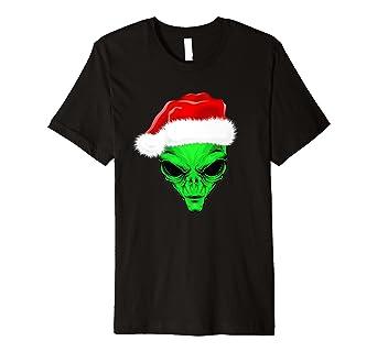 Camiseta Playera Alien en navidad hombre mujeres ninos