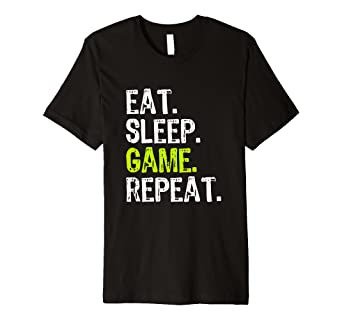 36473954717 Eat Sleep Game Repeat Video Gamer Gift T-Shirt  Amazon.co.uk  Clothing