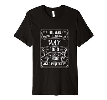 Herren 90 Geburtstag Mai 1929 Hemd Männer 90 Jahre Opa Geschenke