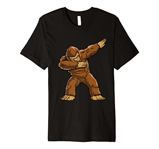 67b05f4c4 Image Unavailable. Image not available for. Color: Bigfoot Sasquatch  Dabbing T Shirt ...