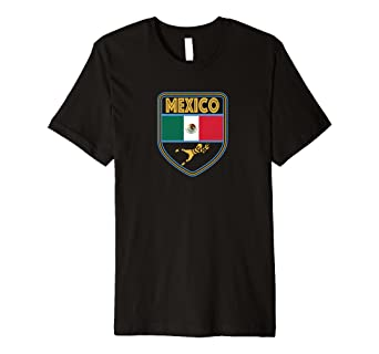 ce91fda36 Image Unavailable. Image not available for. Color: Retro Mexico Soccer T-shirt  Women Football Mexican Flag