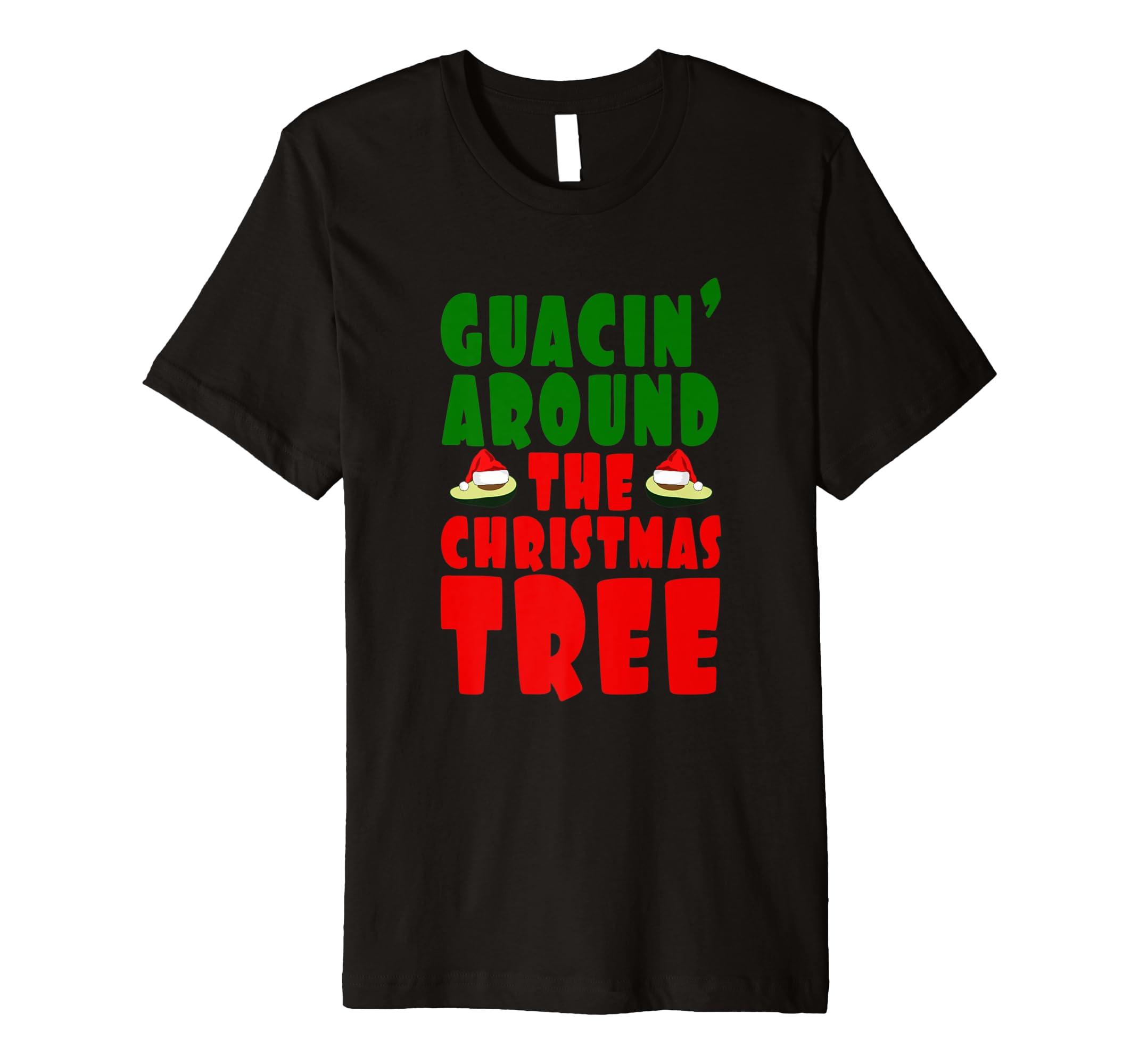 guacin um den Weihnachtsbaum Guacamole Parodie T-Shirt: Amazon.de ...
