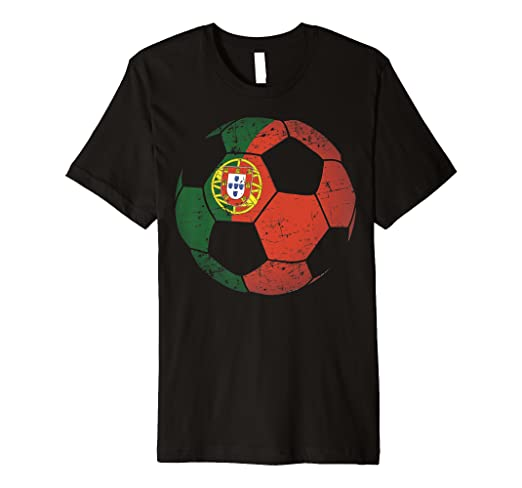 350b10b80 Image Unavailable. Image not available for. Color: Portugal Soccer Ball Flag  Jersey Shirt - Portuguese Football