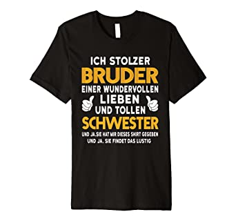 Bruder Und Schwester Ich Stolzer Bruder T Shirt Geburtstag Amazon