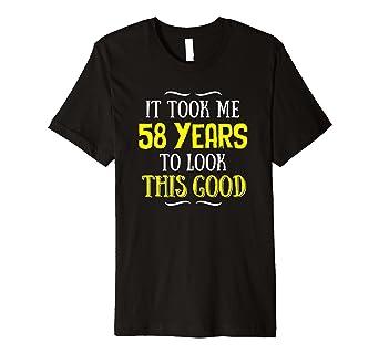 58 Jahre Alt Geburtstag T Shirt Happy Birthday