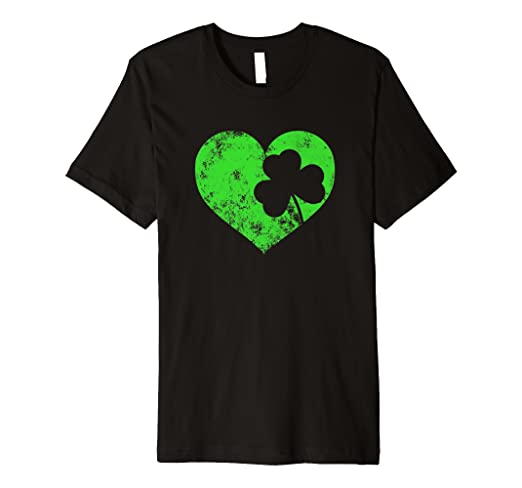 fb7111c49 Image Unavailable. Image not available for. Color: I Love St Patrick's Day T -Shirt Cute Heart Shamrock Top Tee