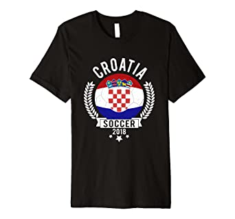 8d0f31f15 Image Unavailable. Image not available for. Color  Croatia 2018 Soccer Team  Fan Jersey Premium T-Shirt