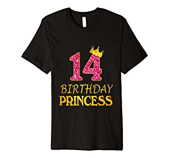 Image Unavailable Not Available For Color 14 Years Old Birthday Princess Girl Shirt