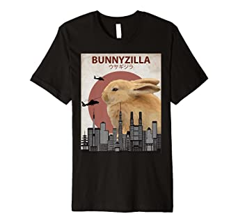 da81a76d Image Unavailable. Image not available for. Color: Bunnyzilla Bunny T-Shirt  | Funny Gift for Rabbit Lovers
