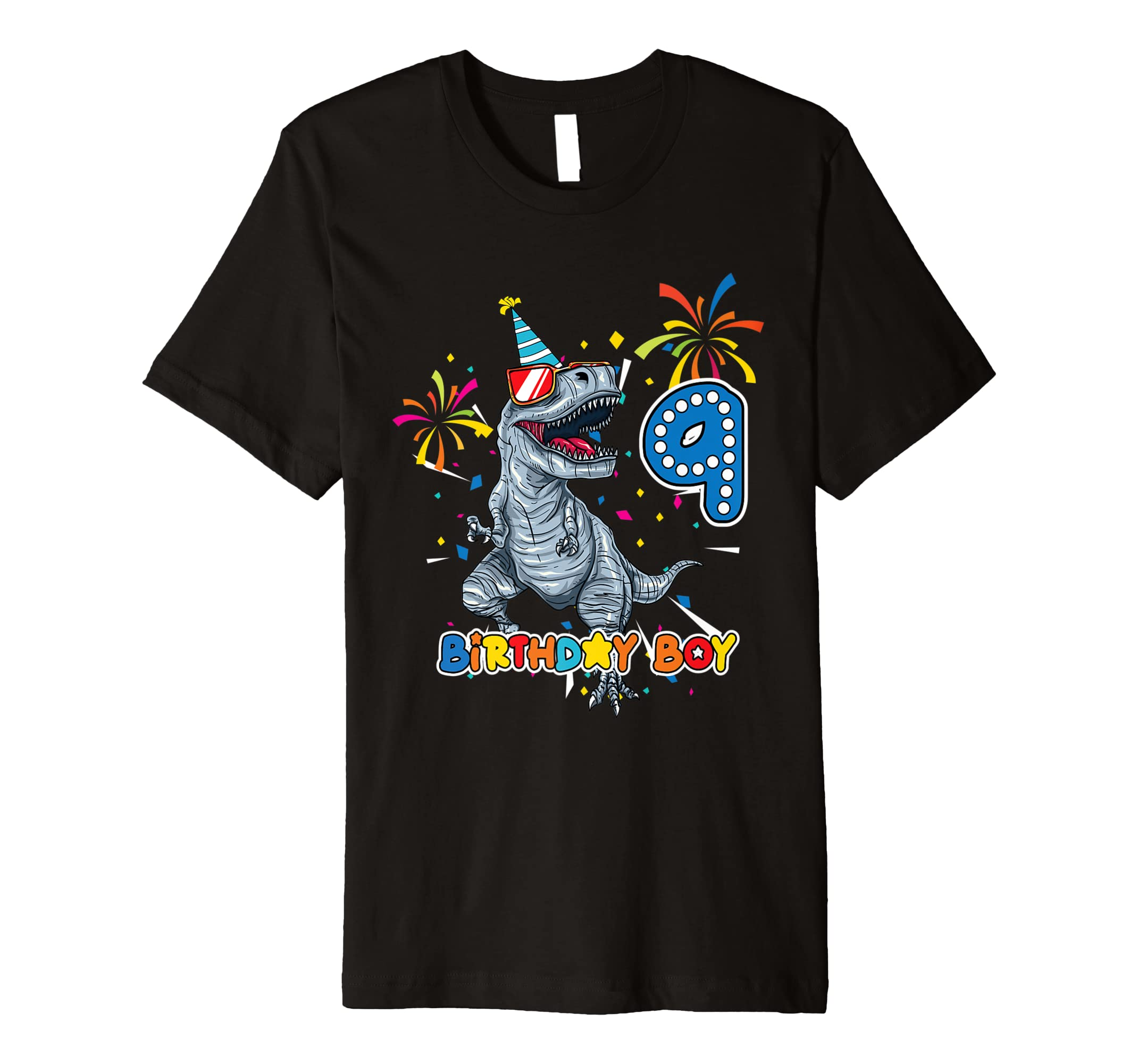 Amazon Its My 9TH Birthday Shirt Dinosaur Party For 9 Year Old Boy Clothing