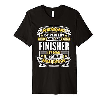 Lustiges Finisher Geschenk Laufen Marathon Triathlon T Shirt Amazon