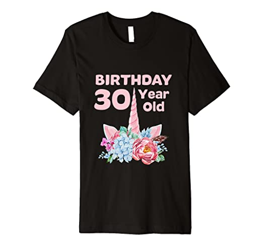 Image Unavailable Not Available For Color 30th Birthday Tshirt Unicorn Women Gifts 30 Year Old Sister