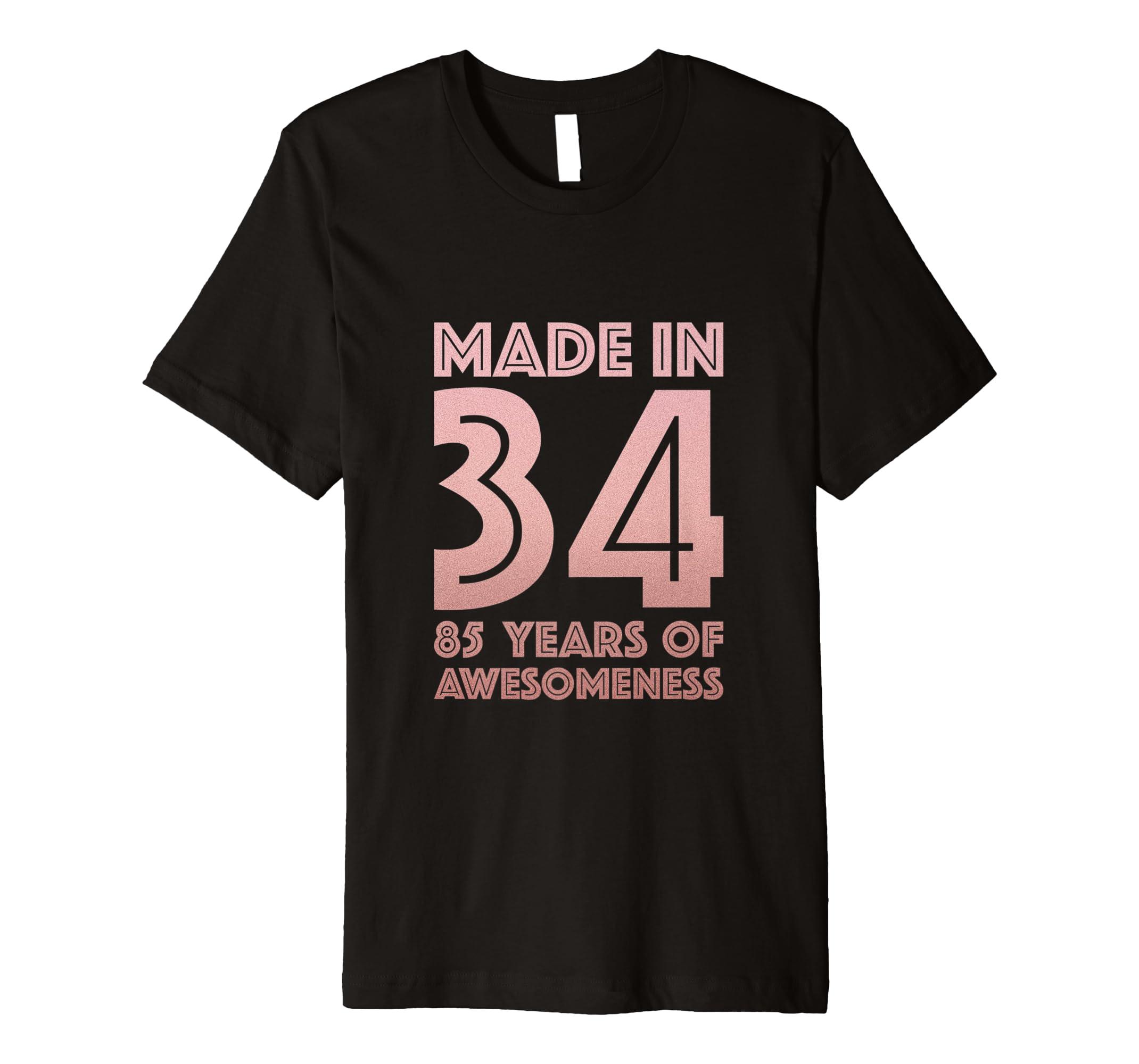 Amazon 85th Birthday Tshirt For Grandma Mom 85 Year Old Women Gifts Clothing