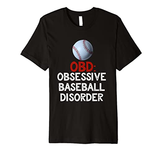 965084e9 Image Unavailable. Image not available for. Color: Mens Obsessive Baseball Disorder  T-Shirt