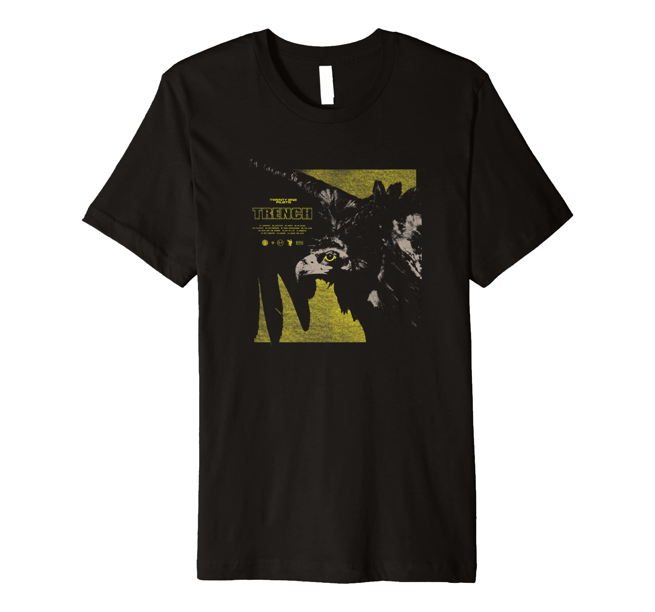 8ede1a87 Amazon.com: Twenty One Pilots Trench Cover T-Shirt: Clothing