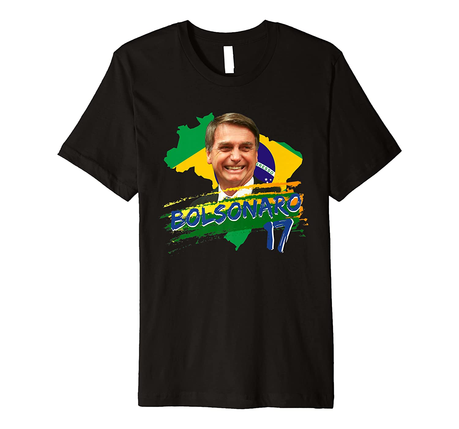 Camiseta Bolsonaro 17 2018 Brazilian Election T-Shirt