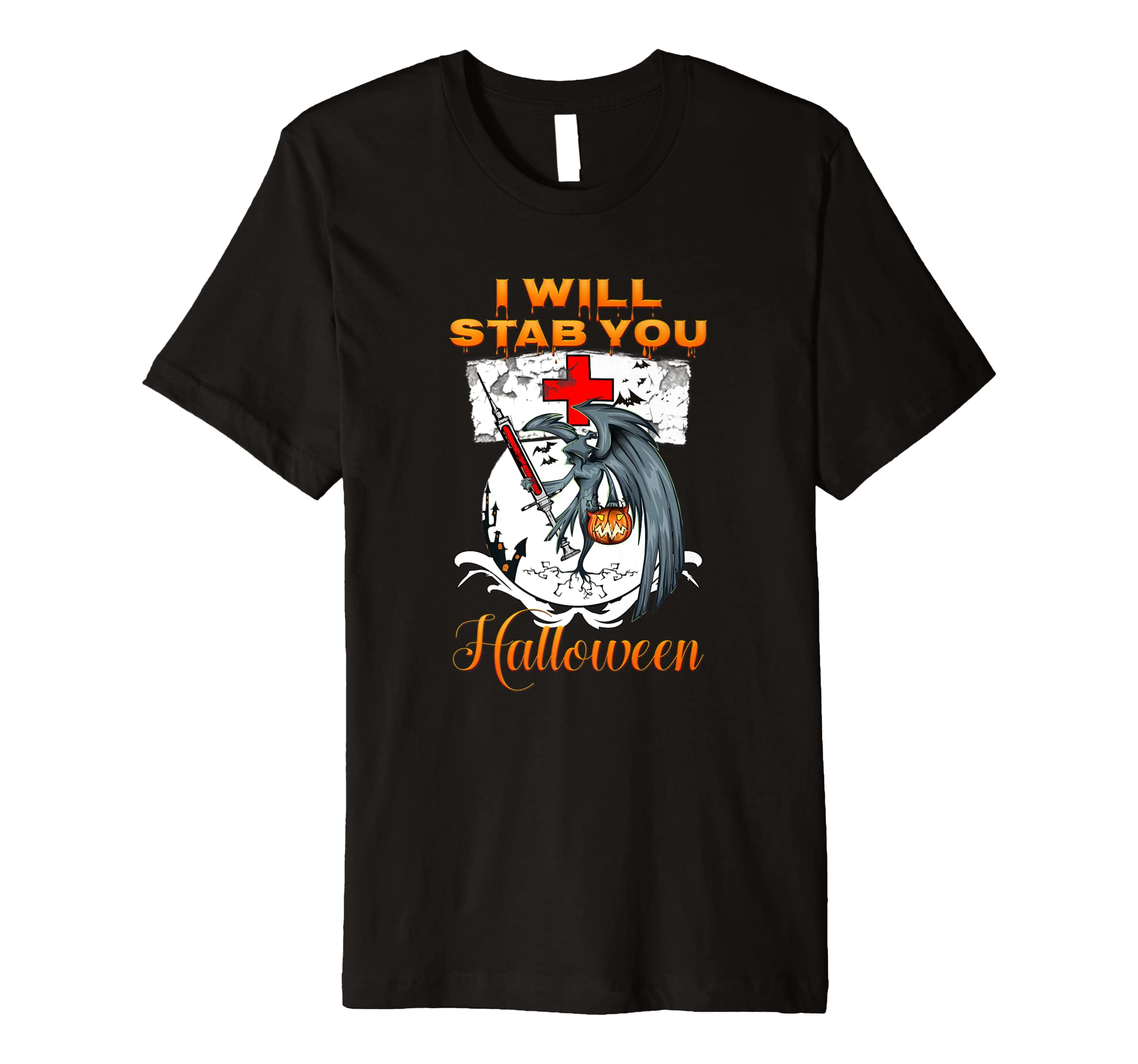 66c6a55c Amazon.com: I Will Stab You Shirt Funny Nurse Shirt: Clothing