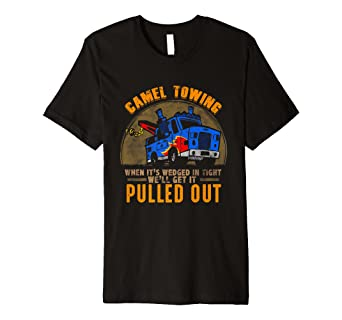 f0f21aaa Image Unavailable. Image not available for. Color: Funny Camel Tow Truck T- Shirt