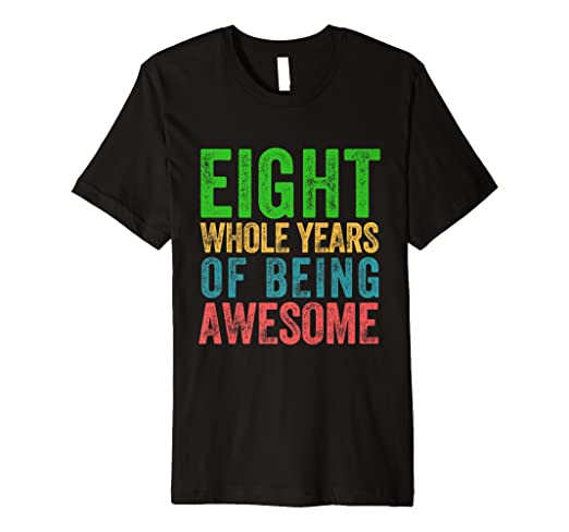 Image Unavailable Not Available For Color Eighth Birthday Shirt Boys Girls 8th Party Eight