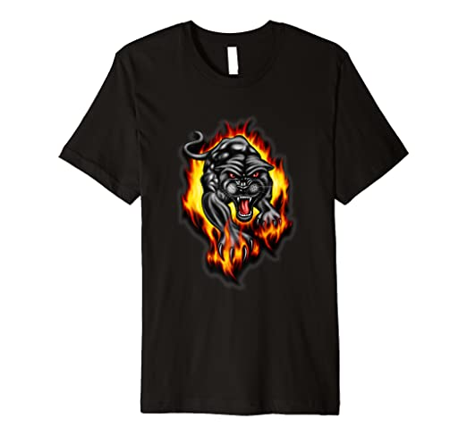74396b63 Image Unavailable. Image not available for. Color: Black Panther T Shirt  Animal Print Tee Adults Teens Kids