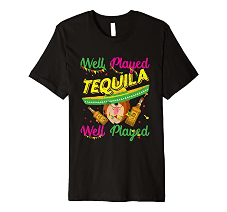 c2ad312e Image Unavailable. Image not available for. Color: Well Played Tequila Shirt  Women Cinco De Mayo Tee Corgi Dog