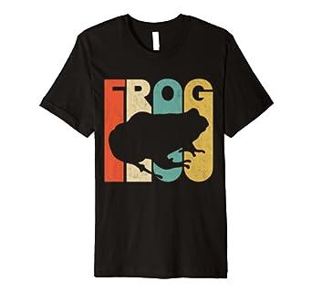 Vintage Retro Frog Silhouette T-Shirt