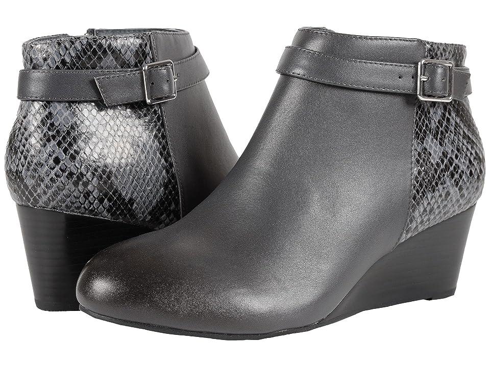 VIONIC Elevated Shasta Wedge Boot (Grey Snake) Women
