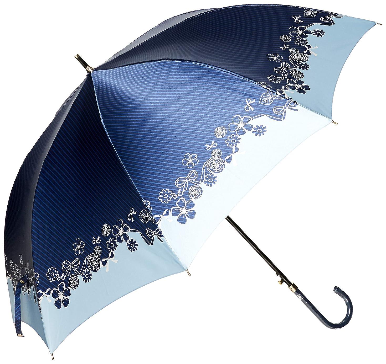 雹ストラトフォードオンエイボン泥[ムーンバット] LANVIN en Blue(ランバン オン ブルー) 婦人 耐風傘 プリント すそ花柄 レディース