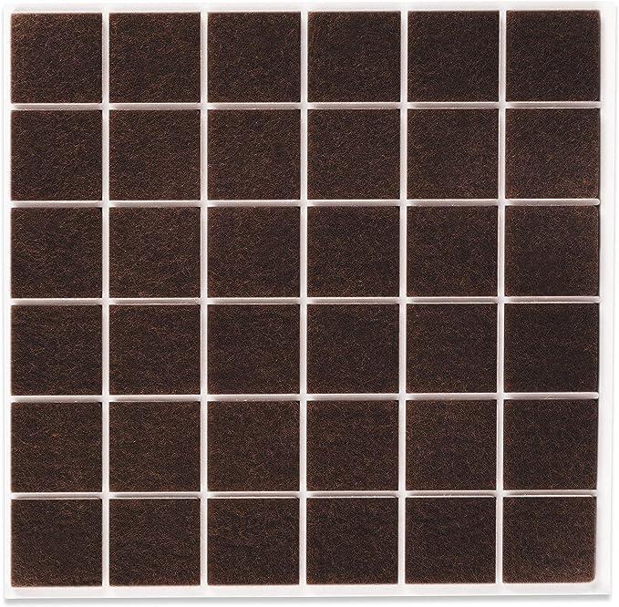 78 opinioni per Filzada® 36x Feltrini autoadesivi- 25 x 25 mm quadrato- Marrone- Feltro