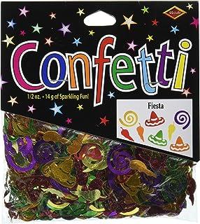 Beistle Fiesta Mexico Themed Cutout Plastic Confetti, 1 Pack, Multicolored