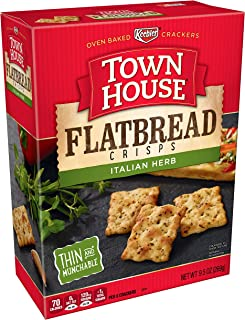 Keebler, Town House Flatbread Crisps, Crackers, Italian Herb, 9.5 oz
