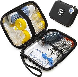 Casematix 8 Inch Insulated Asthma Inhaler Medicine Travel Bag Case for Kids and Adults, Fits Inhaler Spacer, Masks, and More Allergy Medicine, Includes Case Only