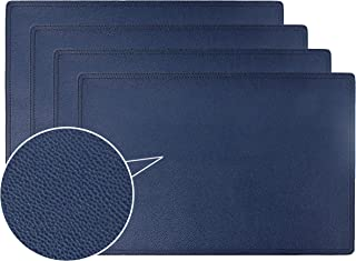 Jovono Faux Leather Placemats, PU Table Mats, Set of 4, Waterproof, Stain Resistant, Heat Resistant, Non-Slip Easy to Clean for Kitchen Dining Table,Conference Table