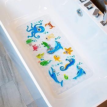 BIGGER SIZE NON SLIP RUBBER BATH SHOWER MAT LONG SQUARE BATHTUB