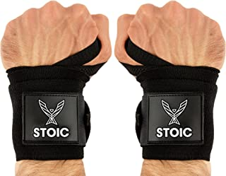 Stoic Wrist Wraps Weightlifting, Powerlifting, Cross Training, Bodybuilding with Thumb..
