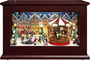 Mr. Christmas Heirloom Music Box Christmas Décor, Brown