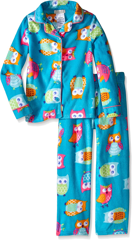 Komar Kids Girls' Micro Fleece 2 Piece Owl Coat Set