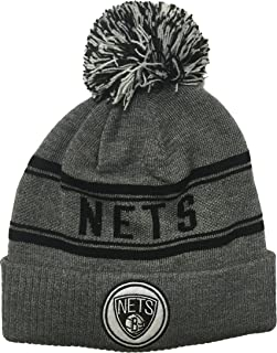 Brooklyn Nets Gray Youth 8-20 NBA Adidas Cuffed Knitted Beanie Hat