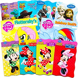Disney Frozen Minnie Mouse Board Book Ultimate Set ~ Bundle Includes 10 Books for Toddlers Featuring Elsa, Minnie Mouse, Toy Story and My Little Pony
