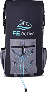 FE Active - 35L Waterproof Cooler Dry Bag with BPA Free FDA Approved EVA Insulation for Extend Cooling and Great for Camping, Beach, Hiking, Trekking, Backpacking | Designed in California, USA