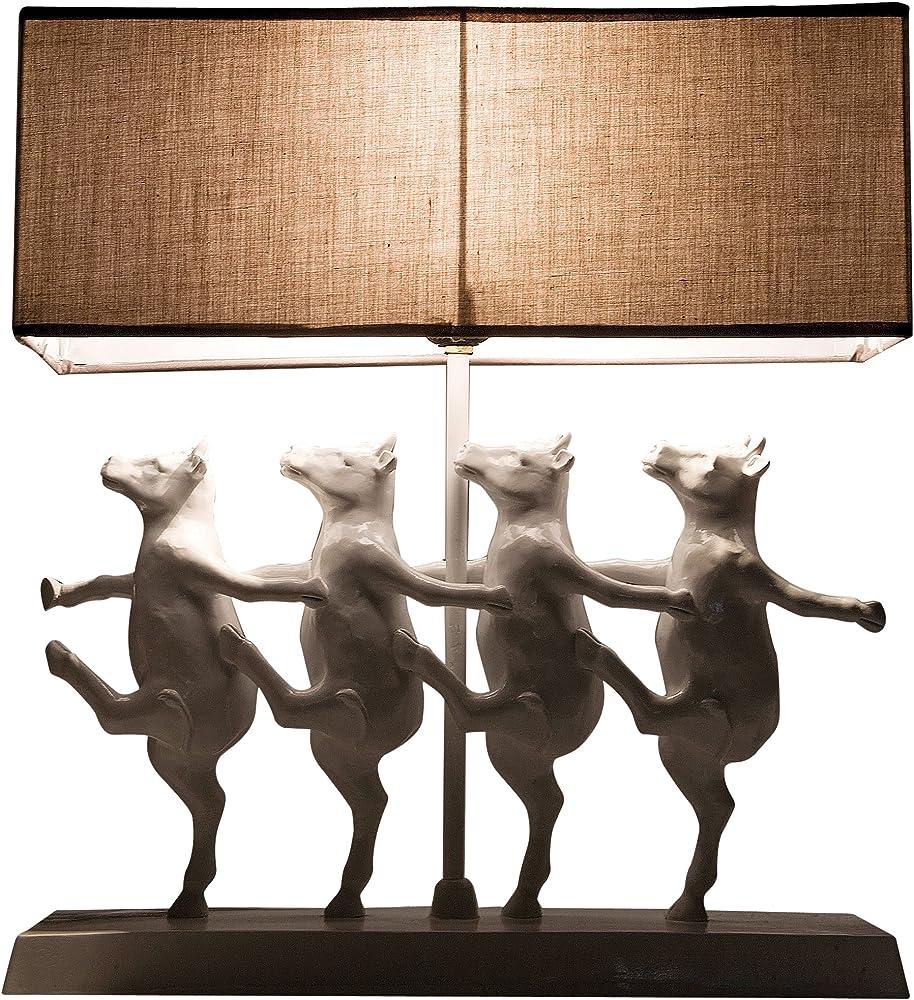 Kare design,lampada da tavolo dancing cows, in metallo, poliresina, tessuto 30968