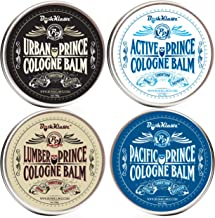 BushKlawz Prince Solid Cologne Full Size Variety Gift Set Men's Alcohol Free Fragrance for Men. Active, Lumber, Pacific, Urban Prince Premium Colognes Black Friday Cyber Monday Christmas Deal